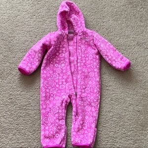 Columbia bunting toddler fleece bodysuit 12-18M